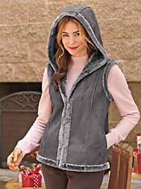 Women's Faux Shearling Vest