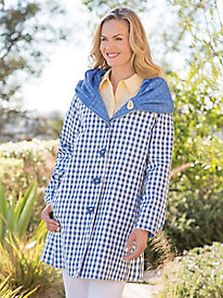 Women's Reversible Gingham Raincoat