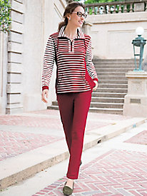 Women's Ruby Rd. Active Striped Sweatshirt