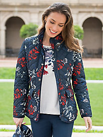 Women's Joules Fay Floral Quilted Coat