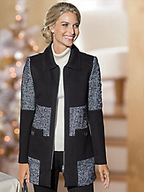 Women's Colorblock Fab Patchwork Coat