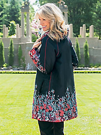 Women's Floral Jacquard Reversible Jacket