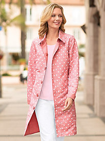 Women's Reversible Polka-Dot Raincoat