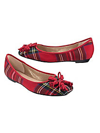 Women's Highland Holiday Plaid Flats
