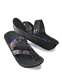 Woman's Wolky Leather Flip-Flops
