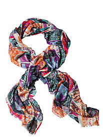 Postage-Stamp Print Scarf