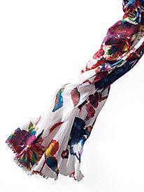 Women's Watercolor Floral Scarf