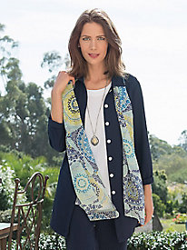 Medallion Tile Oblong Scarf