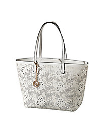 Women's Cutout Floral Two-in-One Tote