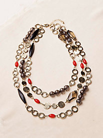 Three-Tiered Beaded Necklace