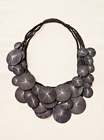Art Deco Textile Fiber Necklace