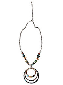 Women's Silver-plated Seascape Necklace