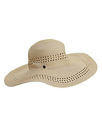Women's Packable Wide-Brim Straw Hat