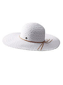 Women's Lace-Look Wide-Brim Hat