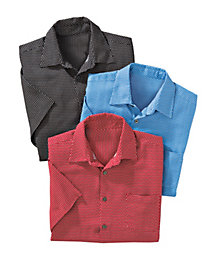 Men's Fine Diamond Silk Shirt