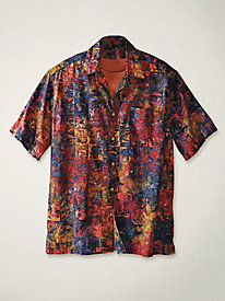 Men's Wild Streak Batik Shirt