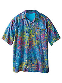 Men's Sundial Tile Batik Shirt