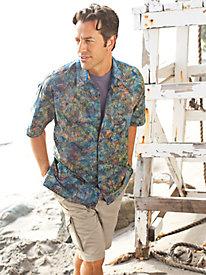 Men's Leaf Sunshine Batik Shirt