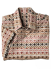 Men's Tangier Tile Shirt by Tori Richard