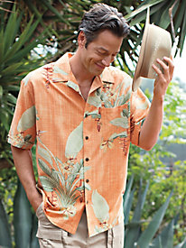 Men's Pure Silk Royal Palms Shirt
