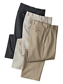 Men's 100% Cotton No-Iron Wrinkle-Free Pants