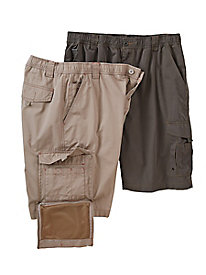 Men's Built In Wallet Cargo Short