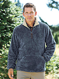 Men's Plush Pullover Jacket