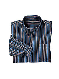 Men's All the Blues Striped Cotton Shirt