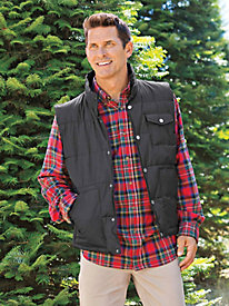 Men's Weather-Resistant Quilted Vest