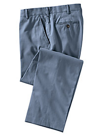 Men's Stone Washed Plain-Front Twill Pants