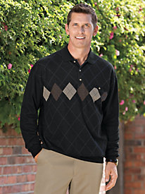Men's Retro Diamond Polo