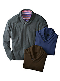 Men's Shawl-Collar Pullover Sweater
