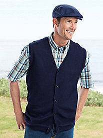 Men's Links Stitch Sweater Vest