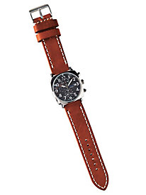 Men's Stitched Leather Patrick Watch