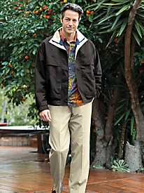 Men's Water-Repellent Microfiber Jacket by Norm Thompson