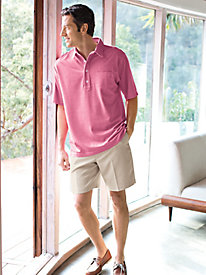 Men's Oxford Pique Knit Polo by Norm Thompson