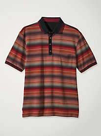 Men's Italian Ombre Stripe Polo Shirt by Norm Thompson