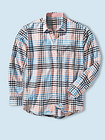 Men's Long-Sleeved Breezeway Plaid Shirt