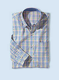 Men's Long-Sleeved PowerGrid Plaid Shirt