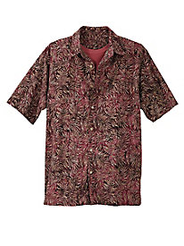 Men's Seaside Foliage Batik Shirt