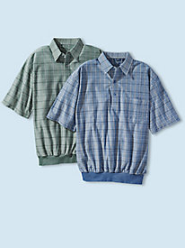 Men's Windowpane Knit Polo