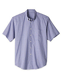 Men's Short-Sleeved Hammock Plaid Shirt