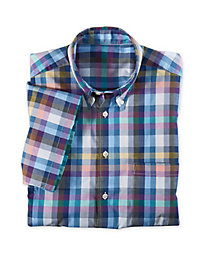 Men's Short-Sleeved Plaid Shirt