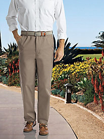 Men's Full-Elastic Casual Pants by Norm Thompson