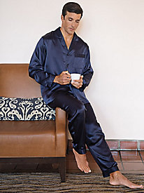 Men's Silk Charmeuse Pajamas