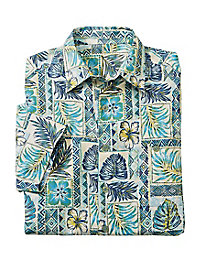 Men's Java Palms Silk/Cotton Shirt