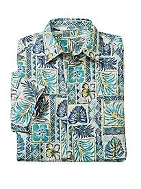 Men's Java Palms Silk/Cotton Shirt