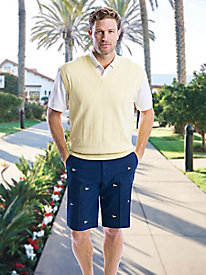 Men's Nautical Flags Embroidered Shorts