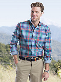 Men's Enro Plaid Sportshirt