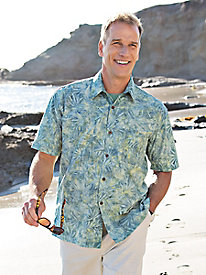 Men's Sage Fronds Batik Shirt